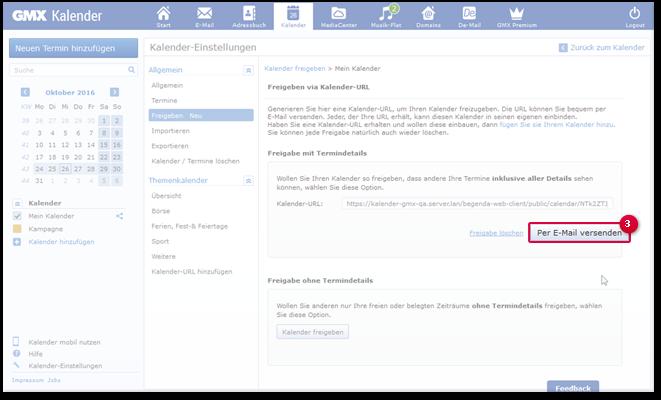 E-Mail mit Kalender-URL generieren