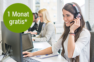 Hotline zum Festnetztarif - 1 Monat gratis