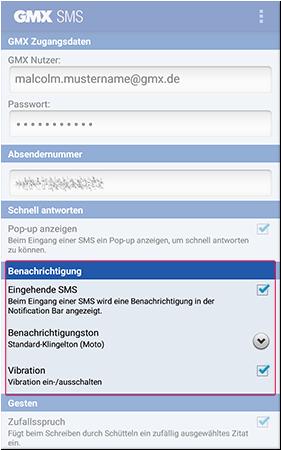App-Benachrichtigung einstellen