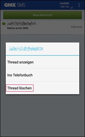 Gesamte SMS-Konversation löschen