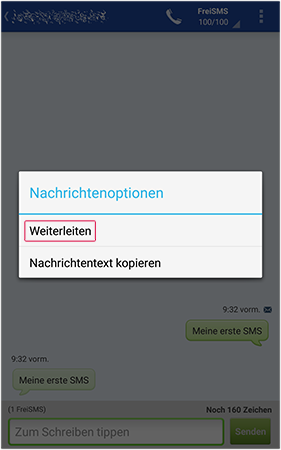 SMS weiterleiten