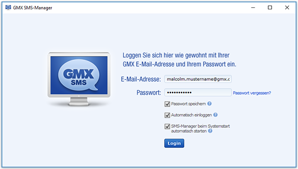 Login SMS-Manager