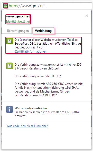 Chrome-Zertifikat