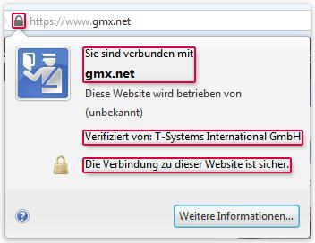 Firefox-Zertifikat