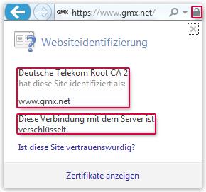 Internet Explorer Zertifikat