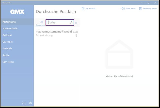 E-Mail suchen