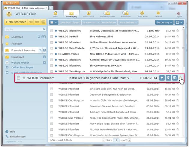 """So markieren Sie eine E-Mail als """"Favorit"""""""