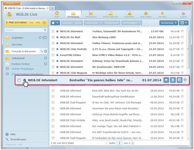 """So markieren Sie eine E-Mail als """"Gelesen"""""""