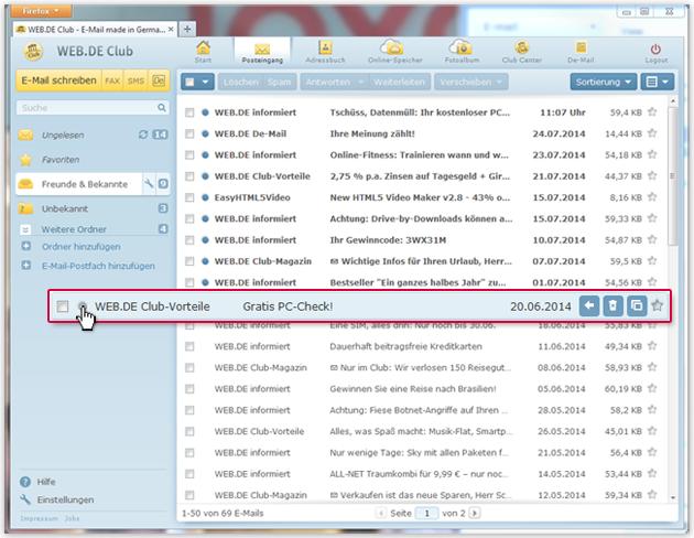 """So markieren Sie eine E-Mail als """"Ungelesen"""""""