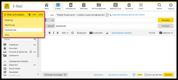 Bearbeiten Sie bis zu 5 E-Mails gleichzeitig