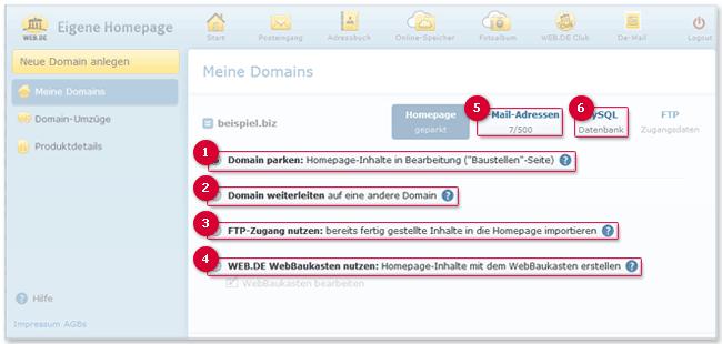 Meine Domains