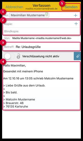 E-Mail in CC und BCC
