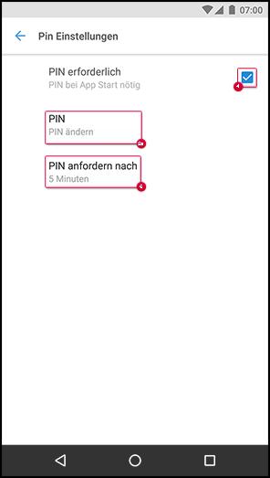 PIN erstellen