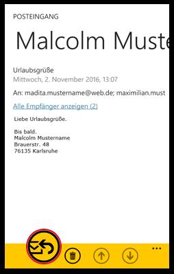 E-Mail beantworten