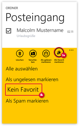 E-Mail als Favorit markieren