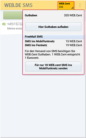 WEB.Cent Guthaben