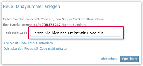 Freischalt-Code