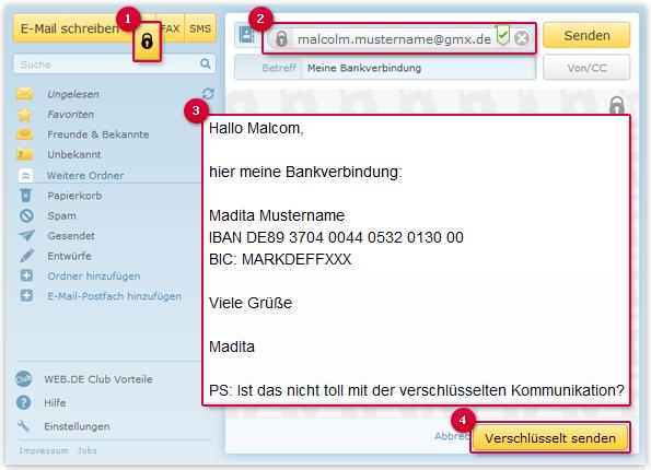 Verschlüsselte E-Mail schreiben