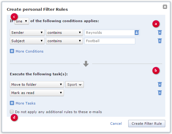 Personal Filter Rule