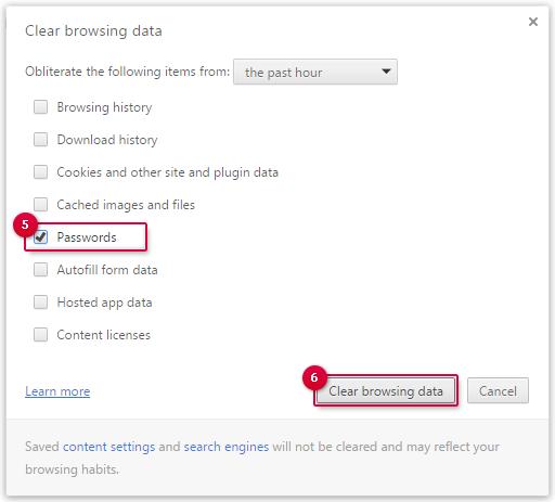 Deleting passwords