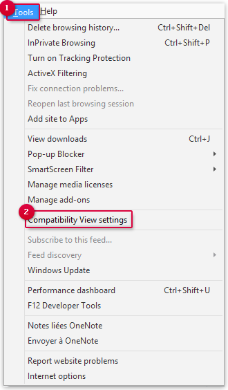 Deactivating the Compatibility View