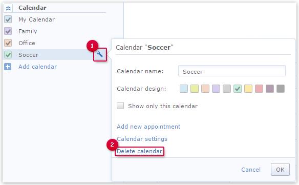 Deleting a Calendar