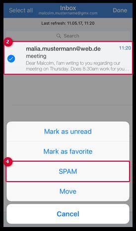 E-Mail als Spam markieren
