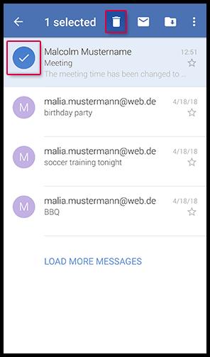Mail löschen