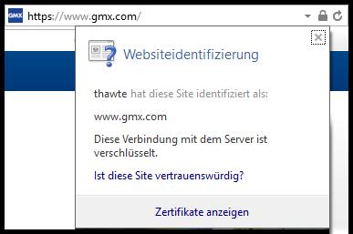 Internet Explorer Certificate