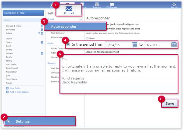 Configuring an Autoresponder
