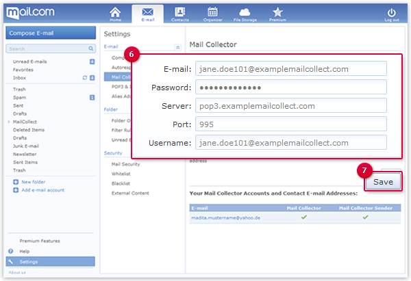 Configuring a POP3 Mail Collector