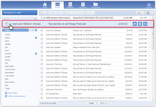 """How to mark an email as """"Unread"""""""