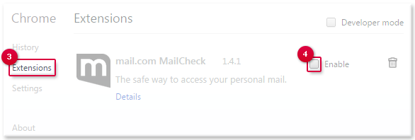 Enabling MailCheck