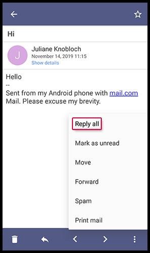 Allen Empfängern einer E-Mail antworten