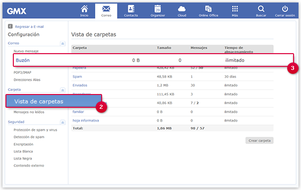 Manage your email folders