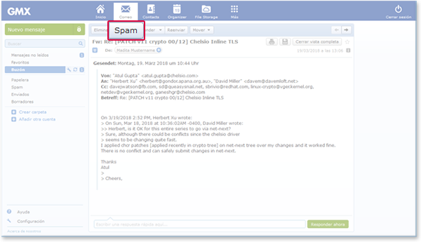 """How to mark an email as """"Spam"""""""