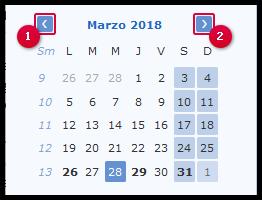 Selección de una fecha