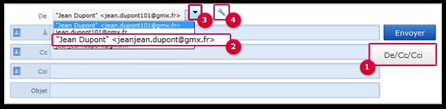 Comment sélectionner une adresse alias