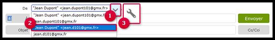 Capture d'écran: Comment sélectionner une adresse alias
