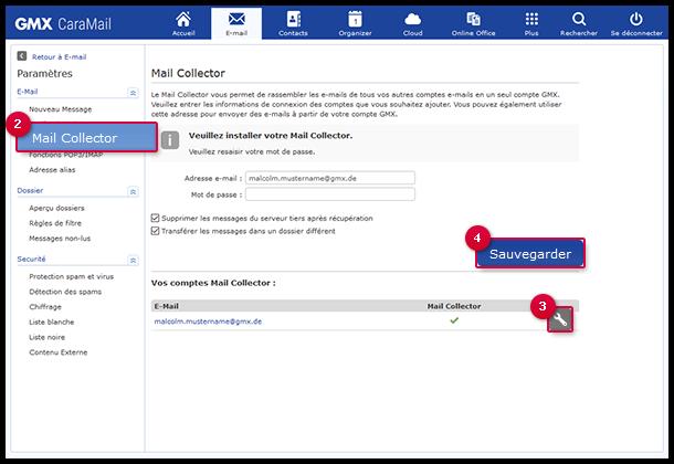 Modifier un Mail Collector POP3