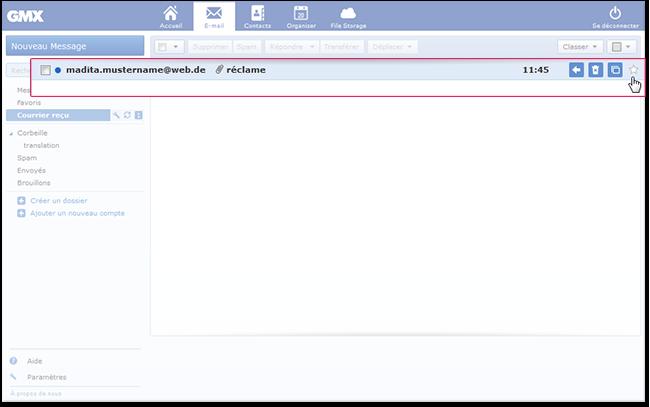 Comment marquer un e-mail comme «non favori»
