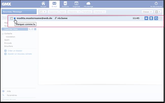 Comment marquer un e-mail comme «lu»