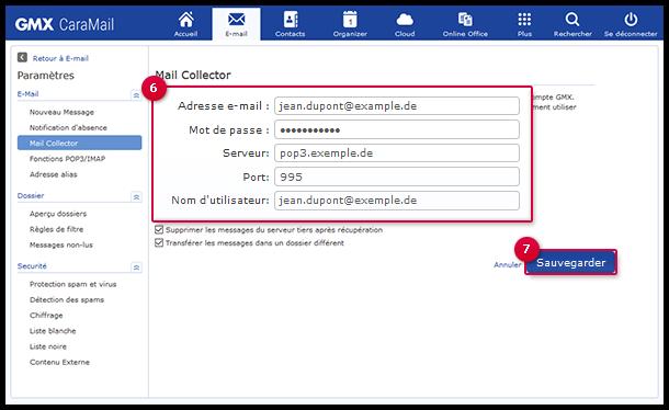 Configurer un Mail Collector POP3