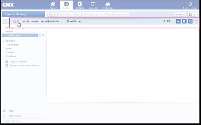 Comment marquer un e-mail comme non lu