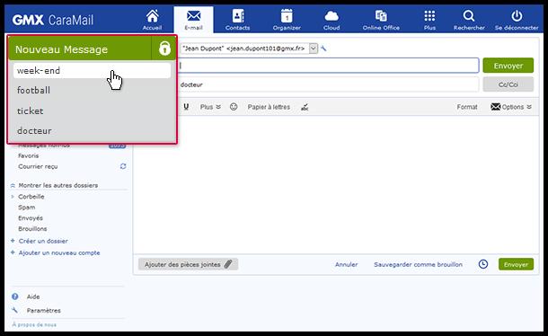 Modifier jusqu'à 5 e-mails en même temps