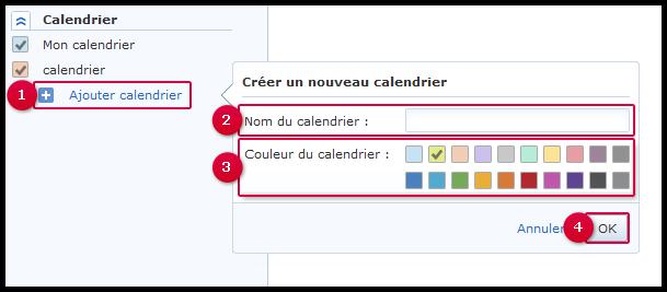 Ajouter un calendrier