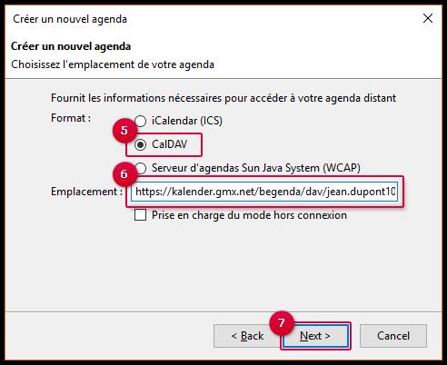 Configurez la synchronisation avec Mozilla Thunderbird