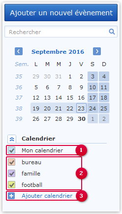 Calendriers supplémentaires