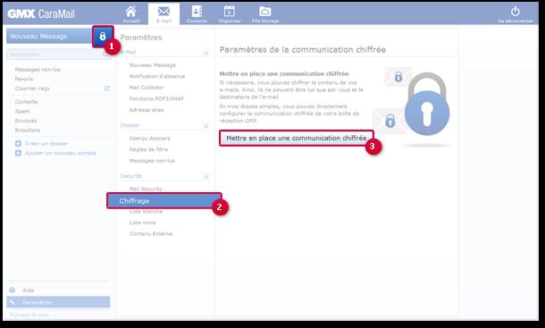 Comment accéder à la page des paramètres de chiffrement?
