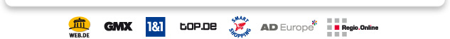 WEB.DE - GMX - 1&1 - top.de - Smart Shopping - AD Europe - Regio Online